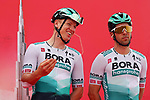 Pascal Ackermann (GER) Bora-Hansgrohe at sign on before the start of Stage 1 of the 2021 UAE Tour the ADNOC Stage running 176km from Al Dhafra Castle to Al Mirfa, Abu Dhabi, UAE. 21st February 2021.  <br /> Picture: Luca Bettini/BettiniPhoto | Cyclefile<br /> <br /> All photos usage must carry mandatory copyright credit (© Cyclefile | Luca Bettini/BettiniPhoto)