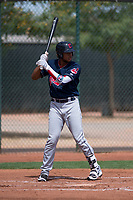 Cleveland Indians first baseman Henderson De Oleo (30) at bat during an Extended Spring Training game against the Arizona Diamondbacks at the Cleveland Indians Training Complex on May 27, 2018 in Goodyear, Arizona. (Zachary Lucy/Four Seam Images)