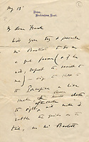 Letter by Charles Darwin providing insight into his animal research comes to light after 148 years.
