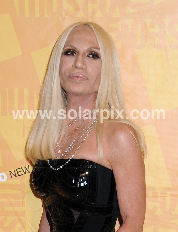 **ALL ROUND PICTURES FROM SOLARPIX.COM**                                             **SYNDICATION RIGHTS FOR UK, AUSTRALIA, DENMARK, PORTUGAL, S. AFRICA, SPAIN & DUBAI (U.A.E) & ASIA (EXCLUDING JAPAN) ONLY**                                                                                  Caption: arrivals at the 2011 El Museo del Barrio Gala Honoring Mario Testino - Cipriani 42nd Street , New York City, NY, USA. 26 May 2011                                                                             This pic: Donatella Versace                                                                       JOB REF: 13470 PHZ Mayer      DATE: 26_05_2011                                                           **MUST CREDIT SOLARPIX.COM OR DOUBLE FEE WILL BE CHARGED**                                                                      **MUST AGREE FEE BEFORE ONLINE USAGE**                               **CALL US ON: +34 952 811 768 or LOW RATE FROM UK 0844 617 7637**