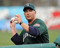 April 2, 2008: Manager Kevin Boles (19) of the Greenville Drive, Class A affiliate of the Boston Red Sox, during Media Day at Fluor Field at the West End in Greenville, S.C. Photo by:  Tom Priddy/Four Seam Images
