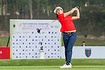 Jacqueline Young of Singapore tees off at tee one during the 9th Faldo Series Asia Grand Final 2014 golf tournament on March 18, 2015 at Mission Hills Golf Club in Shenzhen, China. Photo by Xaume Olleros / Power Sport Images