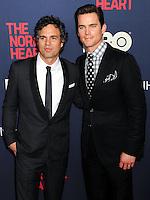 "NEW YORK CITY, NY, USA - MAY 12: Mark Ruffalo, Matt Bomer at the New York Screening Of HBO's ""The Normal Heart"" held at the Ziegfeld Theater on May 12, 2014 in New York City, New York, United States. (Photo by Celebrity Monitor)"