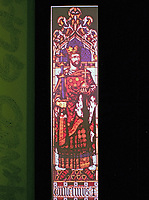 Stained glass of William the Conqueror, designed by A.W. Pugin in House of Parliament.