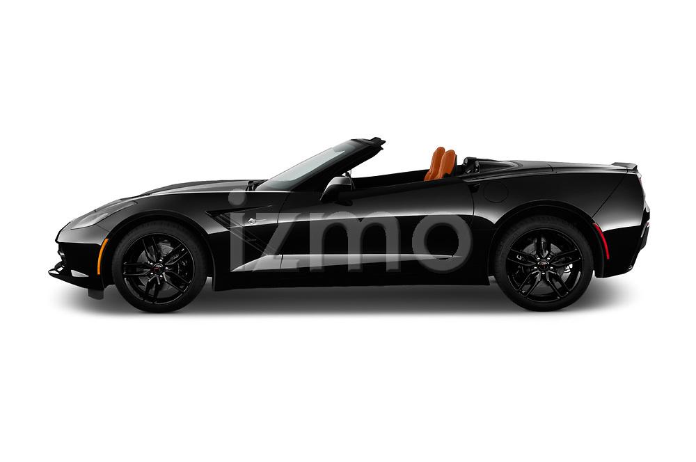 Car driver side profile view of a 2019 Chevrolet Corvette Stingray Convertible 2LT 2 Door Convertible