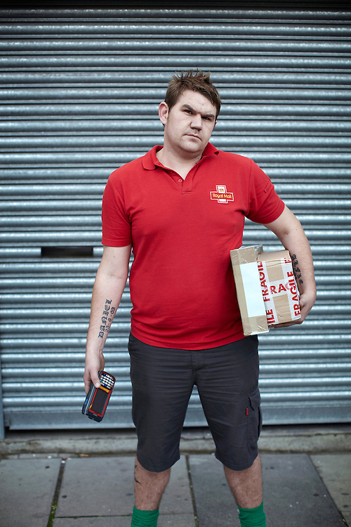© JOHN ANGERSON .The Great British postman.Tommy - Pearson Street.Walk number 5  - Claredale