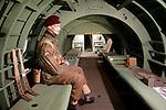 Foto: VidiPhoto<br /> <br /> OVERLOON – Oorlogsmuseum Overloon bestaat dit jaar 75 jaar en is daarmee het oudste oorlogsmuseum van West-Europa. Op dit moment wordt gewerkt twee nieuwe en grote projecten om nog meer publiek te trekken. Defensie heeft geholpen om voer- en vliegtuigen te verplaatsen. Foto: Interieur van de meest originele replica van een Horsaglider.