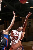 SAN ANTONIO, TX - JANUARY 24, 2008: The University of Texas at Arlington Mavericks vs. The University of Texas at San Antonio Roadrunners Women's Basketball at the UTSA Convocation Center. (Photo by Jeff Huehn)