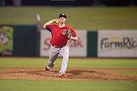 Springfield Cardinals pitcher Seth Elledge (32) delivers a pitch on May 16, 2019, at Arvest Ballpark in Springdale, Arkansas. (Jason Ivester/Four Seam Images)