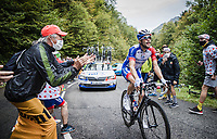 Thibaut Pinot (FRA/Groupama-FDJ) up the Col de Marie Blanque<br /> <br /> Stage 9 from Pau to Laruns 153km<br /> 107th Tour de France 2020 (2.UWT)<br /> (the 'postponed edition' held in september)<br /> ©kramon