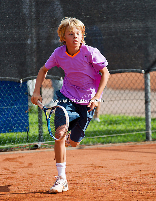 08-08-13, Netherlands, Rotterdam,  TV Victoria, Tennis, NJK 2013, National Junior Tennis Championships 2013, Liam Liles<br /> <br /> <br /> Photo: Henk Koster