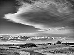 D-D barn and corrals, passing clouds, Calaveras County, Calif.