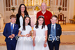 Kilconlly NS 1st Communion: M/s Laura Horgan's clas from Kilconlly NS who received their 1st communion from Fr. Hussey at St. John's Church, Ballybunion on Saturday last.