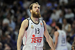Real Madrid´s Sergio Rodriguez during 2014-15 Euroleague Basketball Playoffs match between Real Madrid and Anadolu Efes at Palacio de los Deportes stadium in Madrid, Spain. April 15, 2015. (ALTERPHOTOS/Luis Fernandez)