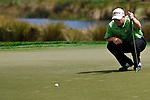 PALM BEACH GARDENS, FL. - John Rollins lines up a putt for birdie on hole 1 during Round Three play at the 2009 Honda Classic - PGA National Resort and Spa in Palm Beach Gardens, FL. on March 7, 2009.