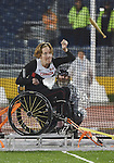 Becky Richter, Toronto 2015 - Para Athletics // Para-athlétisme.<br /> Becky Richter competes in the Women's Club Throw F31/32/51 // Becky Richter participe au lancer du club féminin F31/32/51. 10/08/2015.