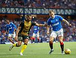 25.07.2019 Rangers v Progres Niederkorn: Yann Marques and Greg Stewart