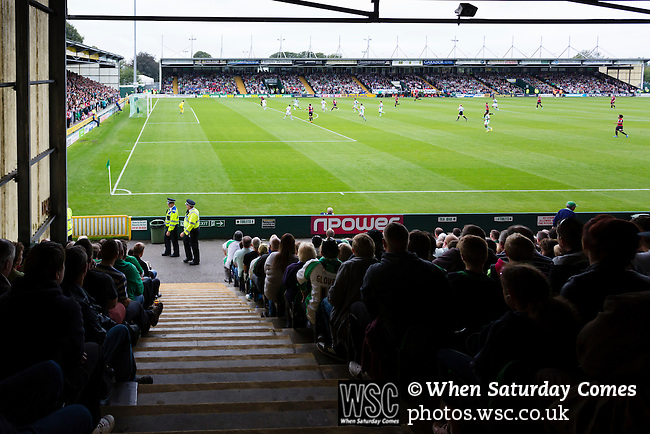 Yeovil Town 0 Queens Park Rangers 1, 21/09/2013. Huish Park, Championship. View from the East Stand.  Photo by Paul Thompson.