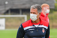 head coach Enzo Scifo of Royal Excelsior Mouscron pictured during a friendly soccer game between KFC Aalbeke Sport and Excelsior Mouscron  during the preparations for the 2021-2022 season , on saturday 3 of July 2021 in Aalbeke , Belgium . PHOTO DIRK VUYLSTEKE | SPORTPIX