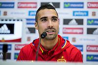 Spainsh Sergio Asenjo during the press conference in the city of football of Las Rozas in Madrid, Spain. November 09, 2016. (ALTERPHOTOS/Rodrigo Jimenez) ///NORTEPHOTO.COM