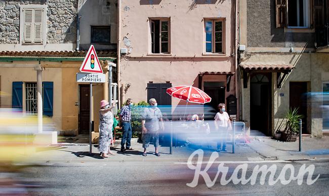 roadside fans <br /> <br /> Stage 2 from Nice to Nice (186km)<br /> <br /> 107th Tour de France 2020 (2.UWT)<br /> (the 'postponed edition' held in september)<br /> <br /> ©kramon