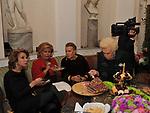 SANDRA VERUSIO, GABRIELLA FAGNO BERTINOTTI, NORI CORBUCCI E ASSUNTA AòMIRANTE<br /> FESTA DEGLI 80 ANNI DI MARTA MARZOTTO<br /> CASA CARRARO ROMA 2011
