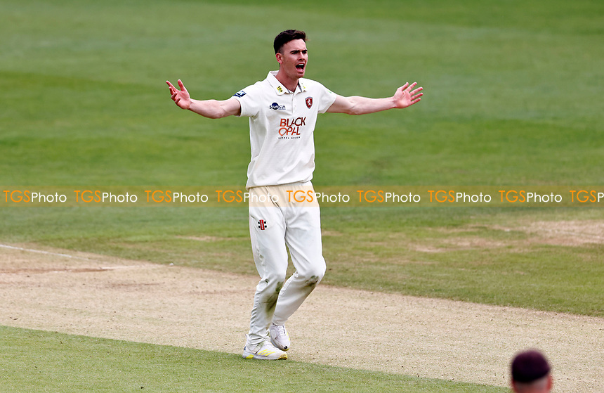 Nathan Gilchrist of Kent appeals during Kent CCC vs Northamptonshire CCC, LV Insurance County Championship Group 3 Cricket at The Spitfire Ground on 6th June 2021