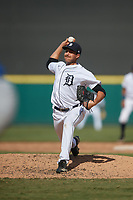 Detroit Tigers pitcher Jason Foley (24) during a Florida Instructional League game against the Toronto Blue Jays on October 28, 2020 at Joker Marchant Stadium in Lakeland, Florida.  (Mike Janes/Four Seam Images)