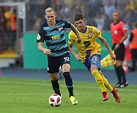 Ondrej Duda,   Ivan Franjic  <br /> / Sport / Football / DFB Pokal 1.round 3. Bundesliga Bundesliga /  2018/2019 / 20.08.2018 / BTSV Eintracht Braunschweig vs. Hertha BSC Berlin / DFL regulations prohibit any use of photographs as image sequences and/or quasi-video. /<br />       <br />    <br />  *** Local Caption *** © pixathlon<br /> Contact: +49-40-22 63 02 60 , info@pixathlon.de
