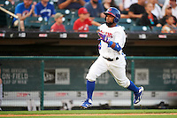 Buffalo Bisons shortstop Alexi Casilla (12) heading towards home during a game against the Norfolk Tides on July 18, 2016 at Coca-Cola Field in Buffalo, New York.  Norfolk defeated Buffalo 11-8.  (Mike Janes/Four Seam Images)