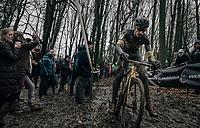 Quinten Hermans (BEL/Telenet Fidea Lions)<br /> <br /> Elite Men's Race<br /> CX Vlaamse Druivencross Overijse 2017