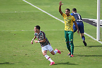 Rio de Janeiro (RJ), 06/06/2021  - Fluminense-Cuiabá - Gabriel Texeira jogador do Fluminense comemora seu gol,durante partida contra o Cuiabá,válida pela 2ª rodada do Campeonato Brasileiro 2021,realizada no Estádio de São Januário,na zona norte do Rio de Janeiro,neste domingo (06).