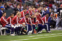 Chivas USA bench. Chivas USA defeated the Colorado Rapids 2-1 at Home Depot Center stadium in Carson, California on Saturday March 21, 2009.