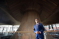 2017 03 01 Minister Vaughan Gething at the Senedd, Cardiff Bay, Wales, UK