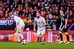Daniel Carvajal of Spain in action during the International Friendly 2018 match between Spain and Argentina at Wanda Metropolitano Stadium on 27 March 2018 in Madrid, Spain. Photo by Diego Souto / Power Sport Images
