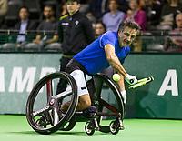 Rotterdam, The Netherlands, 16 Februari 2019, ABNAMRO World Tennis Tournament, Ahoy, Wheelchair singles, Final, Stephane Houdet (FRA),<br /> Photo: www.tennisimages.com/Henk Koster
