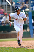 1B Anthony Rizzo of the Portland Sea Dogs in action vs. the New Britain Rock Cats at Hadlock Field in Portland, Maine on May 31, 2010 (Photo by Ken Babbitt/Four Seam Images)