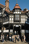 Chester Cheshire UK The corner of Eastgate Street and Brirge Street, The Rows.