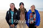 Enjoying a stroll in Inch beach on Friday, l to r: Grace, Chloe and Maura Kennedy.