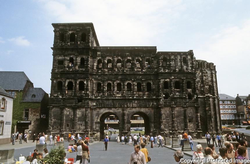Italy: Trier--Porta Nigra, Roman Gate.