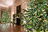 2020 White House Christmas<br /> <br /> The State Dining Room of the White House is seen decorated for the Christmas season Sunday, Nov. 29, 2020. (Official White House Photo by Andrea Hanks)