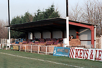 The main stand at Collier Row Football Club