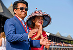 SARATOGA SPRINGS, NY - AUGUST 26: Charlie and Susan Chu celebrate the win of their horse Drefong in the Forego Handicap on Travers Stakes Day at Saratoga Race Course on August 26, 2017 in Saratoga Springs, New York. (Photo by Scott Serio/Eclipse Sportswire/Getty Images)