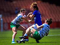 Ireland v France women's pool match. Day one of the 2020 HSBC World Sevens Series Hamilton at FMG Stadium in Hamilton, New Zealand on Saturday, 25 January 2020. Photo: Dave Lintott / lintottphoto.co.nz