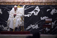 June 06, 2021 - Vatican City (Holy See) - POPE FRANCIS celebrates mass in the fest of the Corpus Domini in St. Peter's Basilica at the Vatican