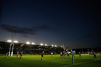 9th September 2020; Twickenham Stoop, London, England; Gallagher Premiership Rugby, London Irish versus Harlequins;  Harlequins taking a line-out during the 1st half inside an empty The Stoop