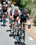 The breakaway including Michael Storer (AUS) Team DSM during Stage 15 of La Vuelta d'Espana 2021, running 197.5km from Navalmoral de la Mata to El Barraco, Spain. 29th August 2021.    <br /> Picture: Cxcling | Cyclefile<br /> <br /> All photos usage must carry mandatory copyright credit (© Cyclefile | Cxcling)