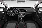 Stock photo of straight dashboard view of a 2018 Hyundai Ioniq Plug-In Hybrid Base 5 Door Hatchback