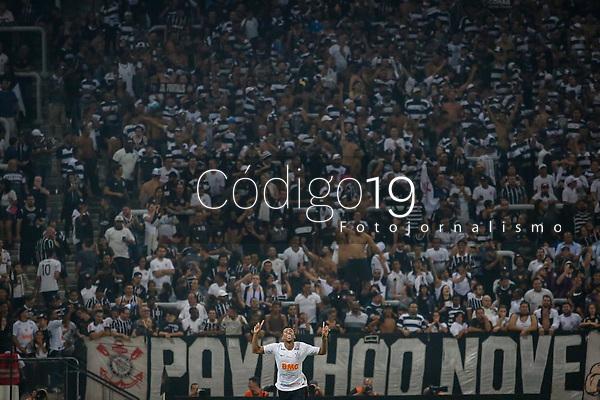 SÃO PAULO, SP 17.02.2019: CORINTHIANS-SÃO PAULO - Gustavo comemora gol. Corinthians e São Paulo em jogo válido pela sétima rodada do campeonato Paulista 2019, na Arena Corinthians zona leste da capital. (Foto: Ale Frata/Codigo19)