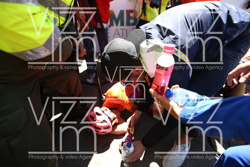 EL VERJON - COLOMBIA, 16-02-2020: Sergio Higuita (COL), EF EDUCATION FIRST, se coronó campeón después de la sexta etapa del Tour Colombia 2.1 2020 con un recorrido de 182,6 km que se corrió entre Zipaquirá y El Once Verjón, Cundinamarca. / Sergio Higuita (COL), EF EDUCATION FIRST, finis as champion after the sixth stage of 182,6 km as part of Tour Colombia 2.1 2020 that ran between Zipaquira and El Once Verjon, Cundinamarca.  Photo: VizzorImage / Darlin Bejarano / Cont